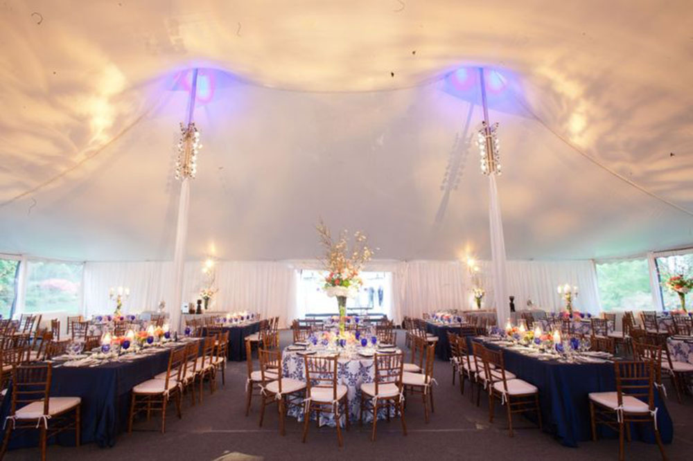 tent ceiling uplighting private party event design table art ceiling up lighting