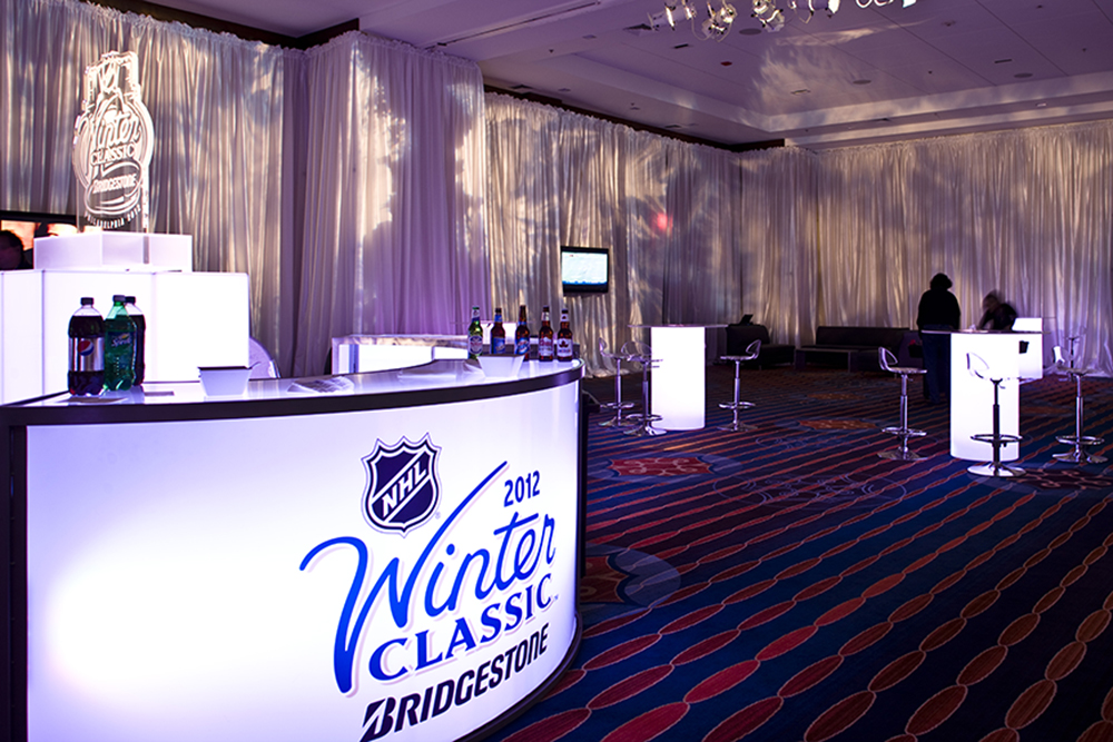 NHL Winter Classic Philadelphia Corporate Event Lighting Marriott Design Albrech